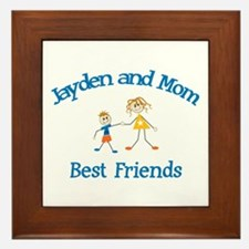 Jayden & Mom - Best Friends  Framed Tile