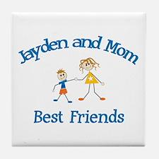 Jayden & Mom - Best Friends  Tile Coaster