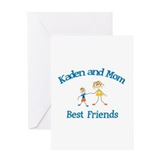 Kaden & Mom - Best Friends Greeting Card