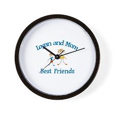 Logan & Mom - Best Friends  Wall Clock