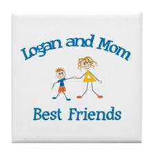 Logan & Mom - Best Friends  Tile Coaster