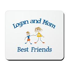 Logan & Mom - Best Friends  Mousepad