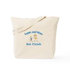 Logan & Mom - Best Friends  Tote Bag