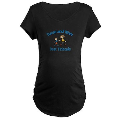 Lucas & Mom - Best Friends Maternity Dark T-Shirt