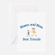 Mason & Mom - Best Friends Greeting Card
