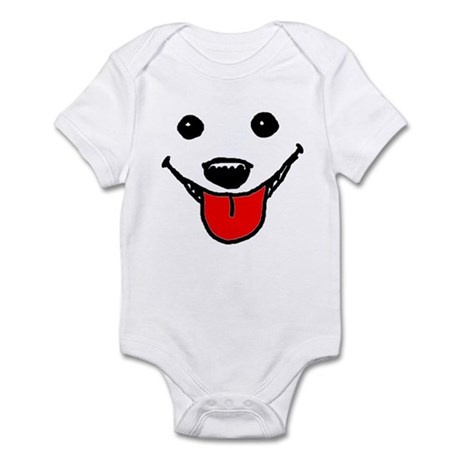 Happy Dog Face Infant Bodysuit