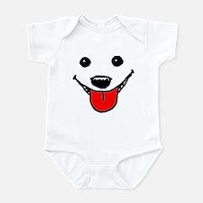 Happy Dog Face Infant Bodysuit