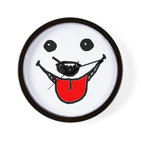 Happy Dog Face Wall Clock