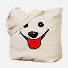 Happy Dog Face Tote Bag