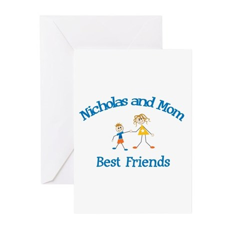Nicholas & Mom - Best Friends Greeting Cards (Pk o