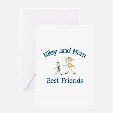 Riley & Mom - Best Friends Greeting Card