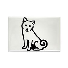 Shiba Sit Rectangle Magnet (10 pack)