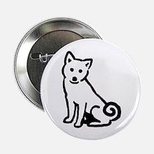 """Shiba Sit 2.25"""" Button (100 pack)"""