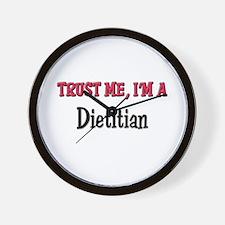 Trust Me I'm a Dietitian Wall Clock