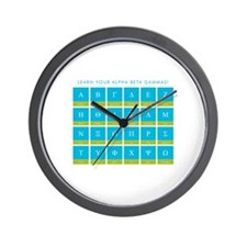 Alpha Beta Gammas Wall Clock