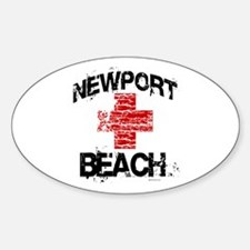 Newport Beach Lifeguard ~ Oval Decal
