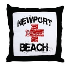 Newport Beach Lifeguard ~  Throw Pillow
