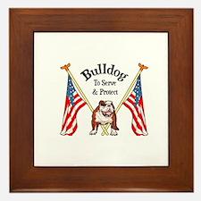 Bulldog To Serve & Protect Framed Tile