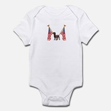 All American Chocolate Labrador Infant Bodysuit