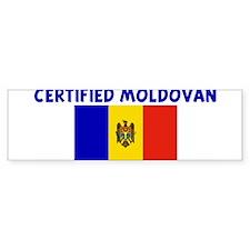 CERTIFIED MOLDOVAN Bumper Bumper Sticker