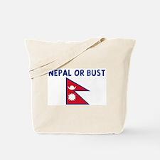 NEPAL OR BUST Tote Bag
