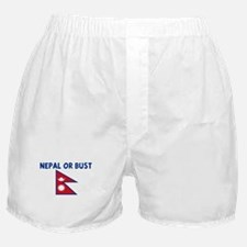 NEPAL OR BUST Boxer Shorts