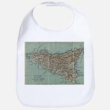Vintage Map of Sicily Italy (1911) Baby Bib