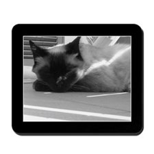 Tonkinese Cat B&W Mousepad