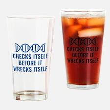 DNA Checks Itself Drinking Glass