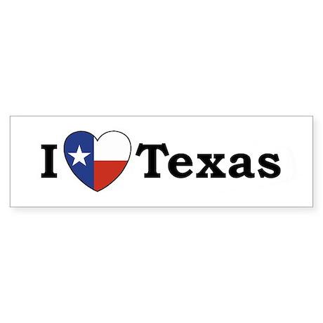 I Love Texas Bumper Sticker