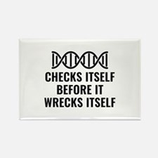 DNA Checks Itself Rectangle Magnet (10 pack)
