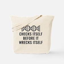 DNA Checks Itself Tote Bag