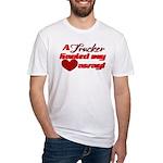 Trucker Hauled My Heart Away Fitted T-Shirt