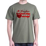 Trucker Hauled My Heart Away Dark T-Shirt