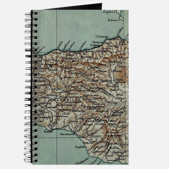Vintage Map of Sicily Italy (1911) Journal
