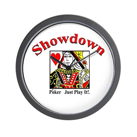 Showdown Poker Wall Clock