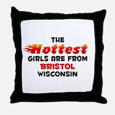 Hot Girls: Bristol, WI Throw Pillow