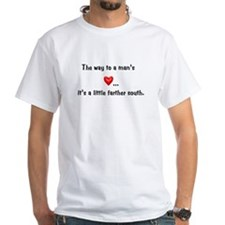 The way to man's heart T-Shirt (white)