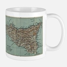 Vintage Map of Sicily Italy (1911) Mugs