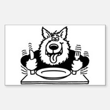 Hungry dog Rectangle Decal