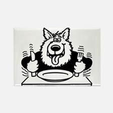 Hungry dog Rectangle Magnet