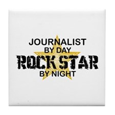 Journalist Rock Star Tile Coaster