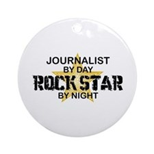 Journalist Rock Star Ornament (Round)