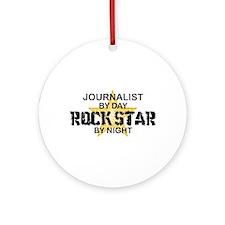 Journalist Rock Star Ornament (Round)