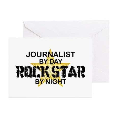 Journalist Rock Star Greeting Cards (Pk of 10)