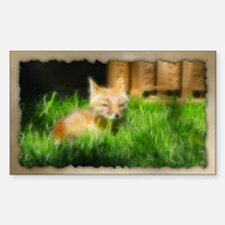 PhotoArt Red Fox Rectangle Decal