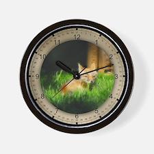 PhotoArt Red Fox Wall Clock