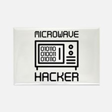 Microwave Hacker Rectangle Magnet