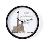 Old gardeners spade away Wall Clock