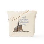 Old gardeners spade away Tote Bag